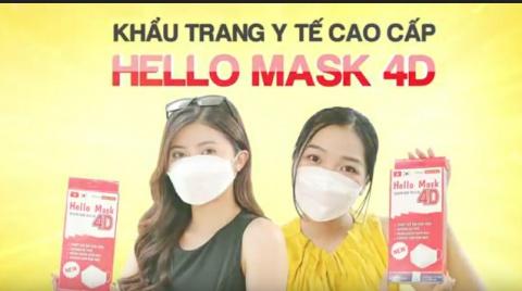Khẩu trang 4D Hello Mask